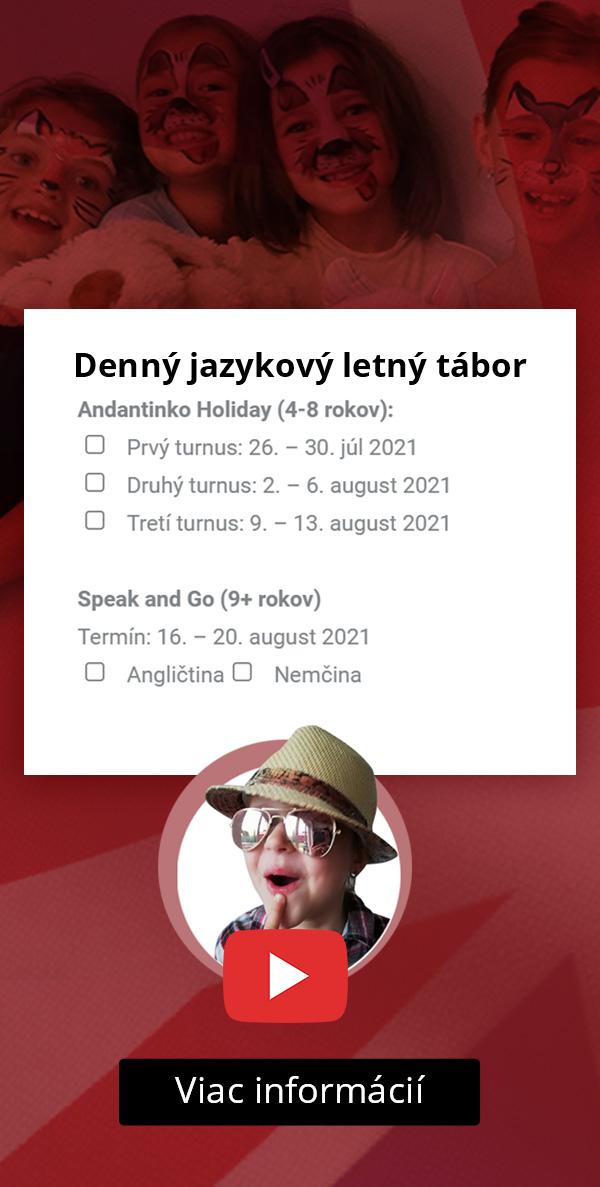 Andantino - denný letný jazykový tábor